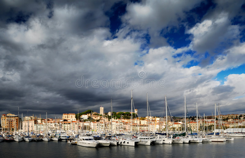 The city of Cannes, France stock photo