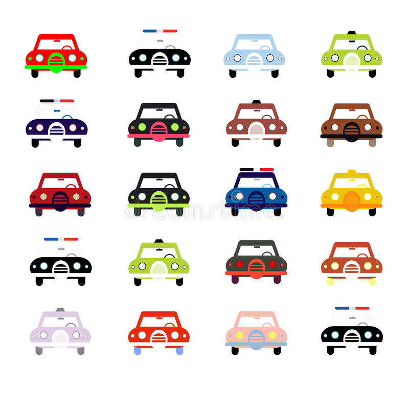Download City cars in color stock vector. Image of transport, ride - 26344099
