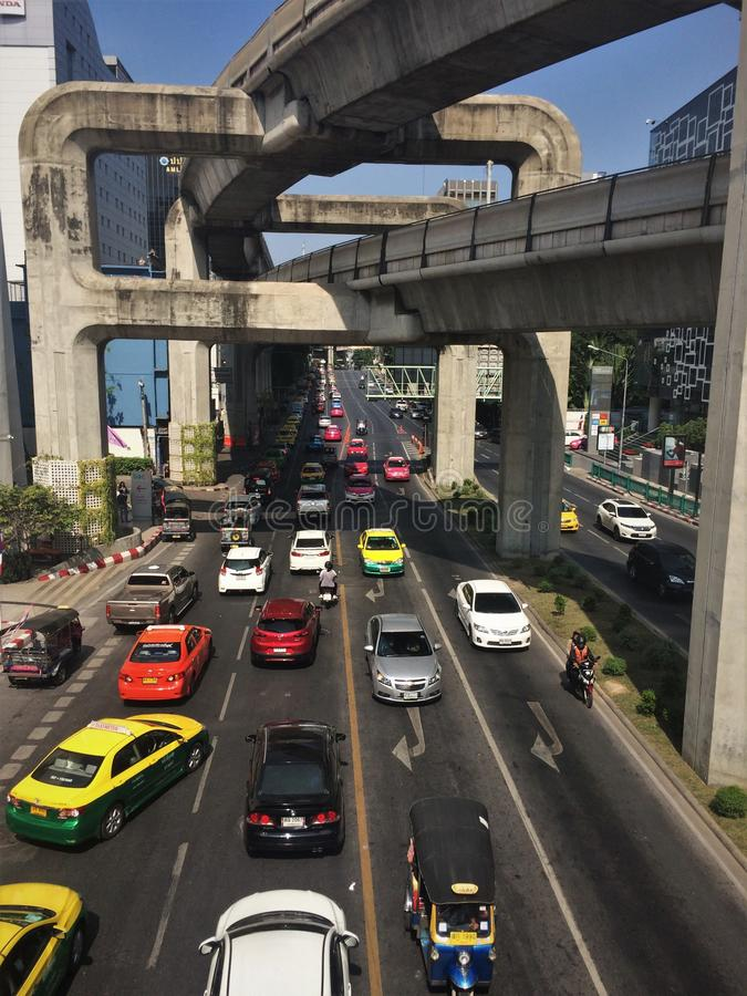 City of cars and concrete royalty free stock photography