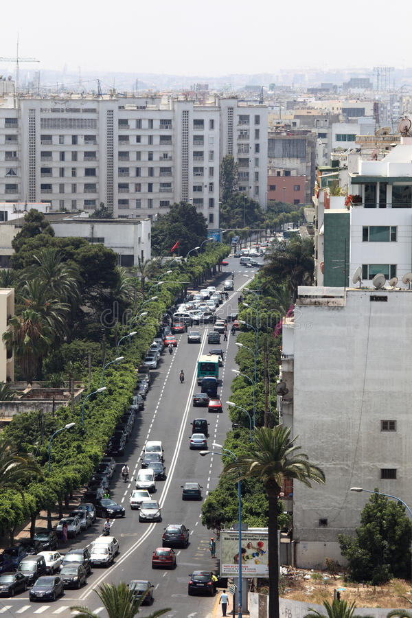 City of Casablanca, Morocco royalty free stock images
