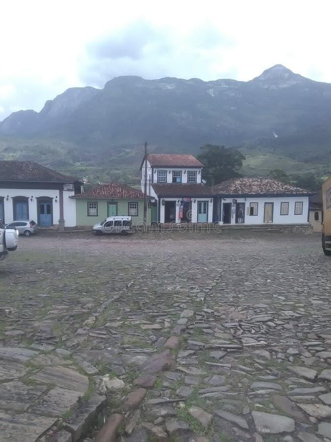 City of Catas Altas Minas Gerais. Evening in Catas Altas, rustic city, historical patrimony, tourist attraction in Minas Gerais royalty free stock photography