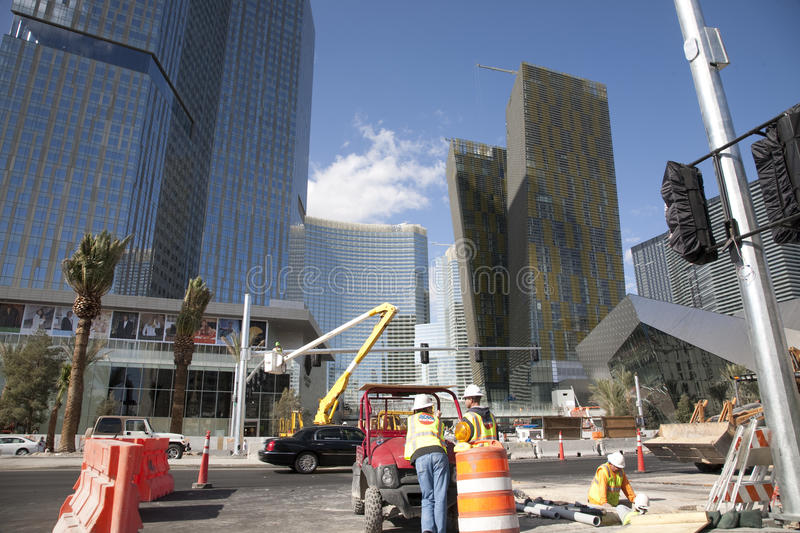 City Cente Las Vegas. This is an image of the City Center in Las Vegas taken November 2009, when the contsturction of the buildings is almost complete. In View royalty free stock photos