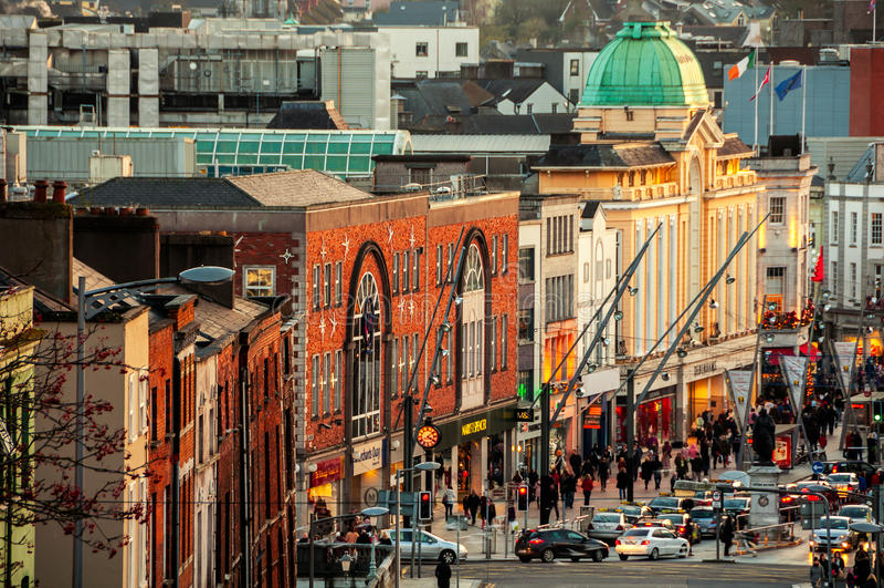 City center of Cork, Ireland royalty free stock photo