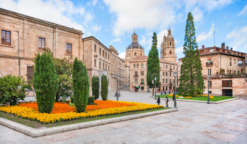 City center of Salamanca, Castilla y Leon region, Spain stock image