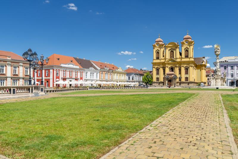 Timisoara beautiful town in Romania. The city centre of beautiful town in Romania - Timisoara stock images
