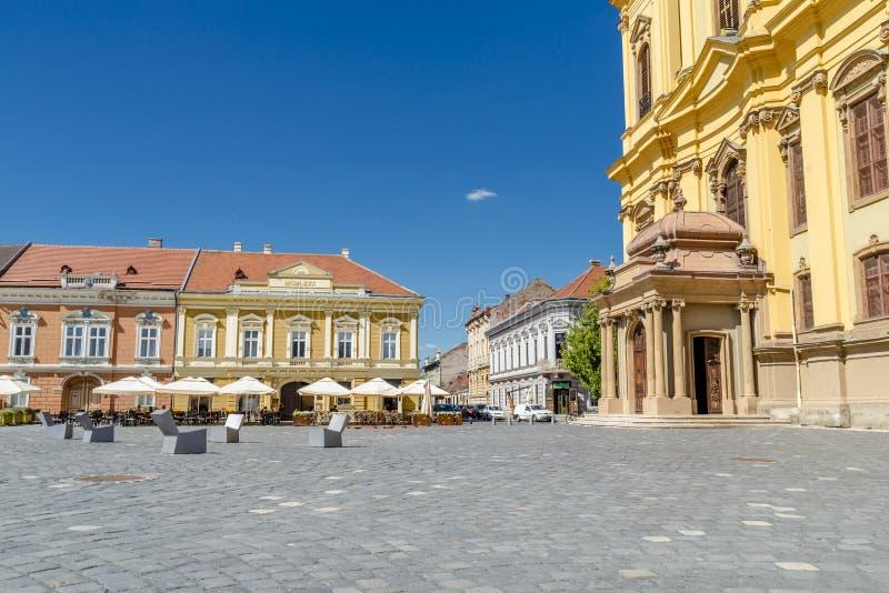Timisoara beautiful town in Romania. The city centre of beautiful town in Romania - Timisoara stock photo