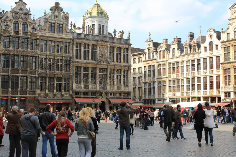 City centre of Brussels - Grand Place. City centre of Brussels, in Belgium. Capital city, known as a capital of European Union with majority of the EU royalty free stock photo