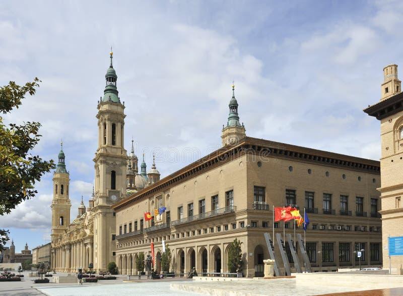City centre of Zaragoza, Spain