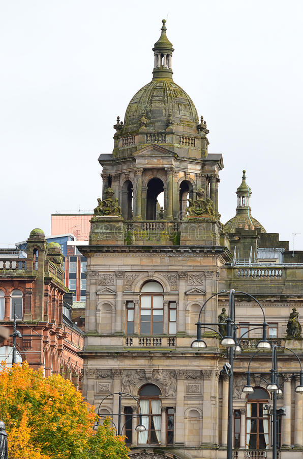 City Chambers in George Square, Glasgow, Scotland.  stock photo