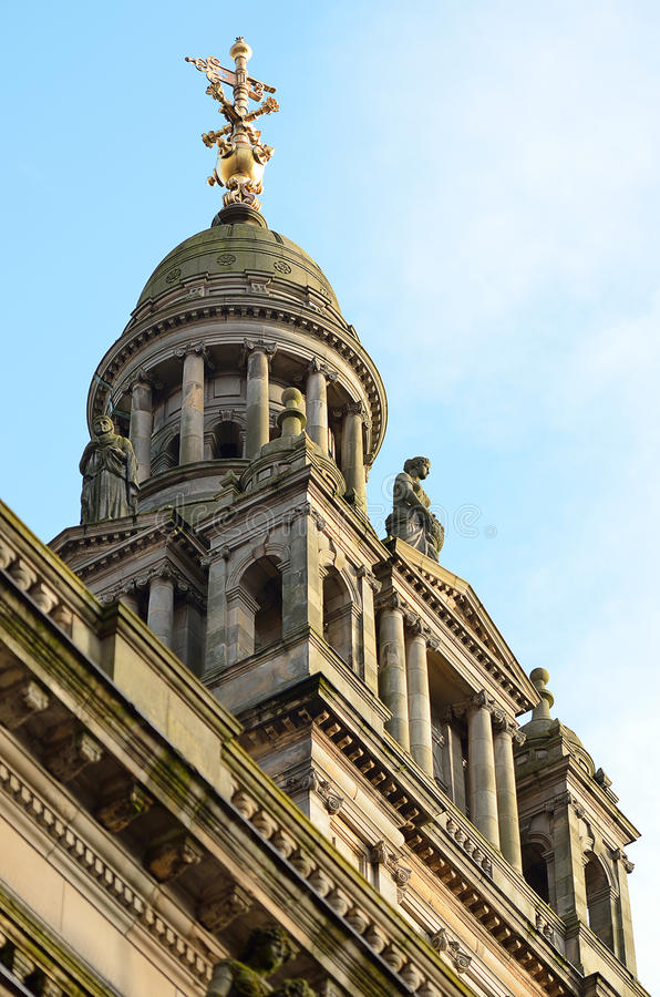 City Chambers in George Square, Glasgow, Scotland.  stock images