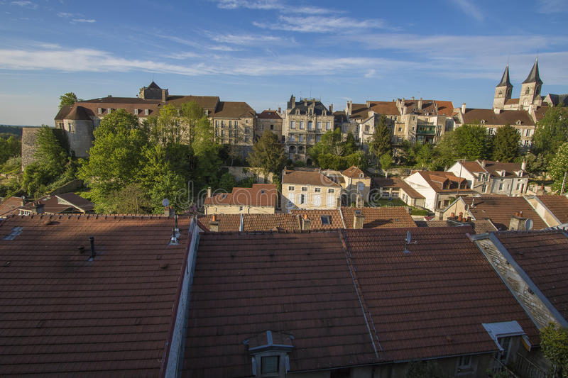 City of Chaumont, France. Chaumont is a commune of France, and the capital (or préfecture) of the Haute-Marne department. As of 2013, it has a population of stock photography