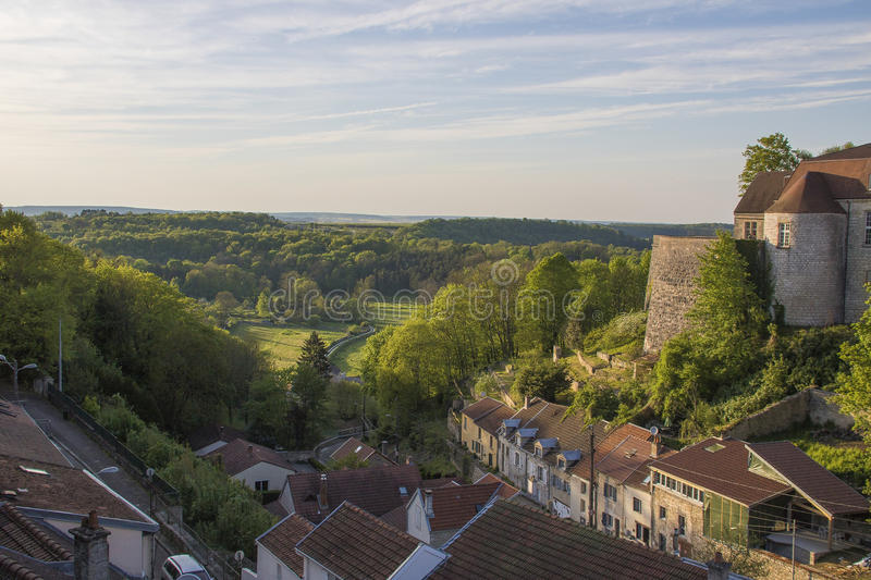 City of Chaumont, France. Chaumont is a commune of France, and the capital (or préfecture) of the Haute-Marne department. As of 2013, it has a population of royalty free stock photography
