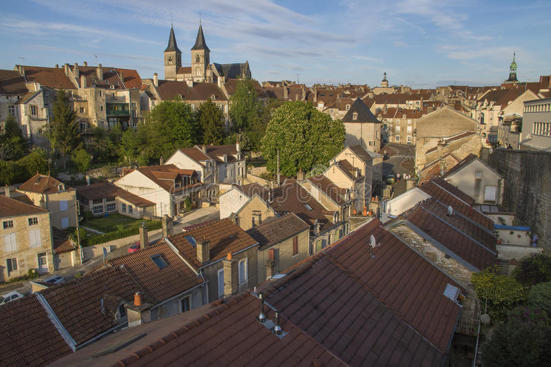 City of Chaumont, France. Chaumont is a commune of France, and the capital (or préfecture) of the Haute-Marne department. As of 2013, it has a population of stock image
