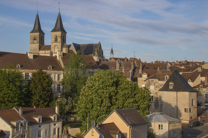 City of Chaumont, France. Chaumont is a commune of France, and the capital (or préfecture) of the Haute-Marne department. As of 2013, it has a population of royalty free stock image