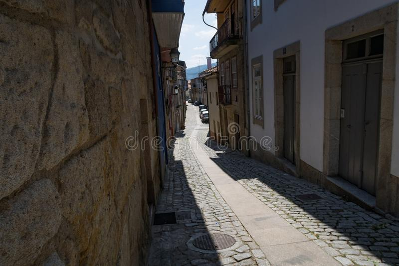 City of Chaves - Traditional Street. Chaves is a Portuguese city with origins in the Roman civitas Aquæ Flavi stock photography
