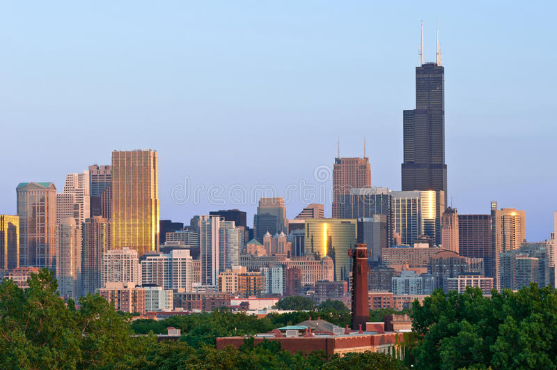 Download City of Chicago. stock image. Image of sears, exterior - 25365161