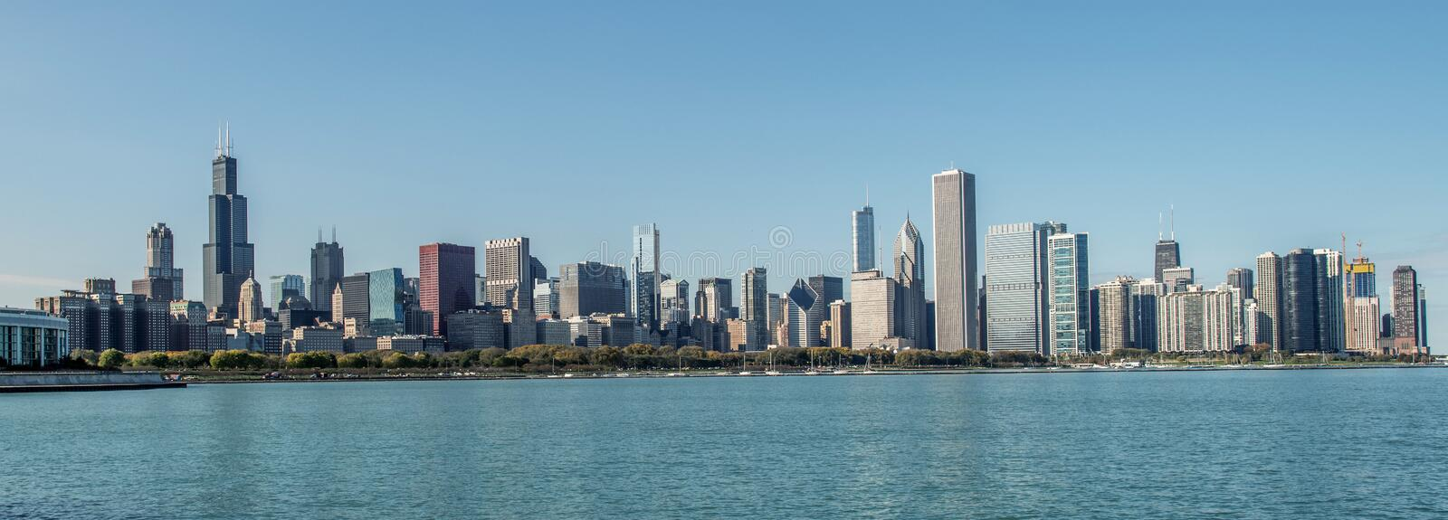 City of Chicago Skyline stock image