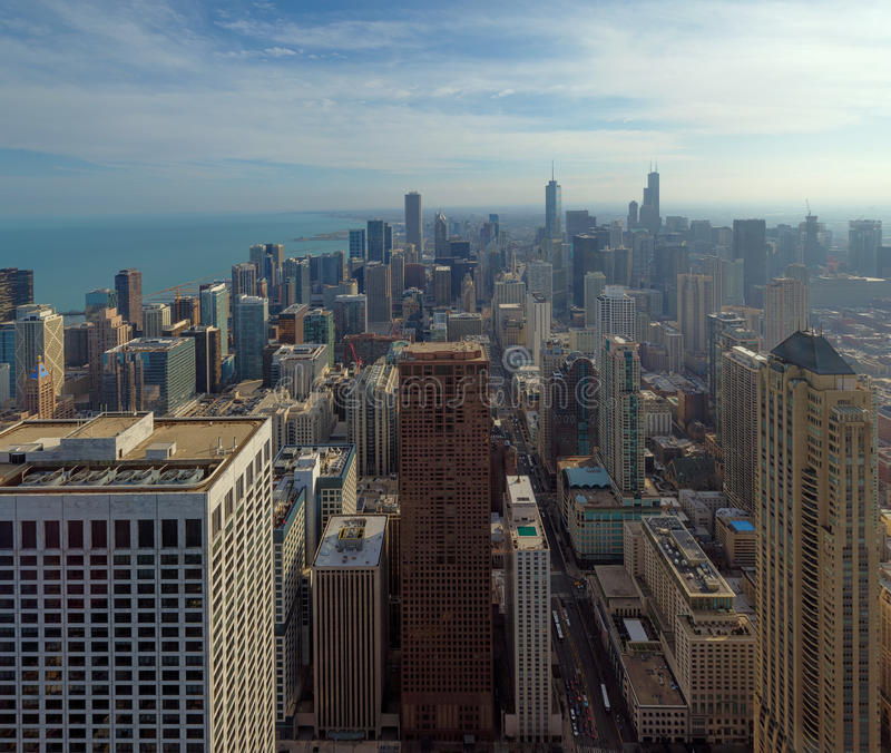 City of Chicago, Skyline at noon, illinois, USA. City of Chicago, Skyline at noon, illinois,USA stock photography