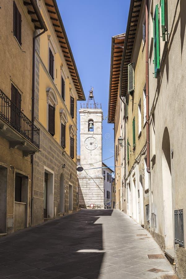 CIty of Chiusi in Tuscany, Italy stock photography
