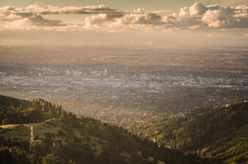 City of Christchurch. At dawn royalty free stock image