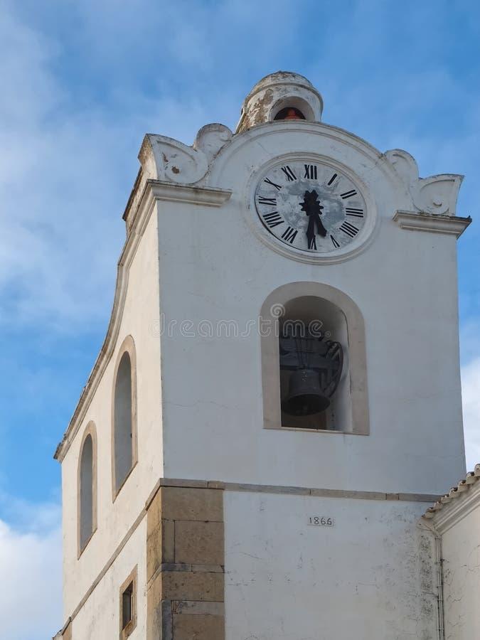 Free City Church Igreja Matriz Da Fuseta At The Algarve Coast Of Portugal Royalty Free Stock Photos - 215734358