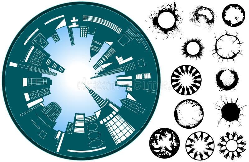 City circle royalty free illustration