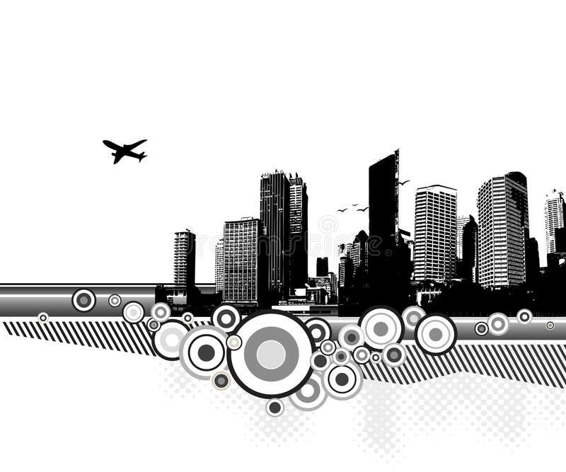 Download City with circles. Vector stock vector. Image of background - 4275565