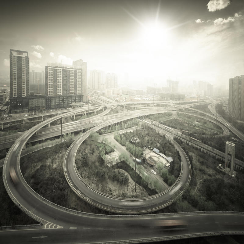 City cloverleaf junction. In xian,China stock photos
