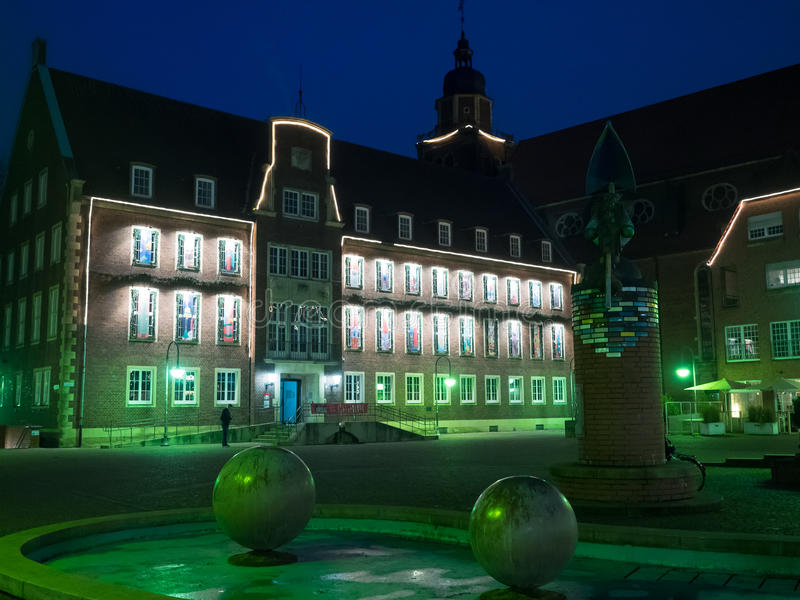 The city of coesfeld. In germany royalty free stock photography