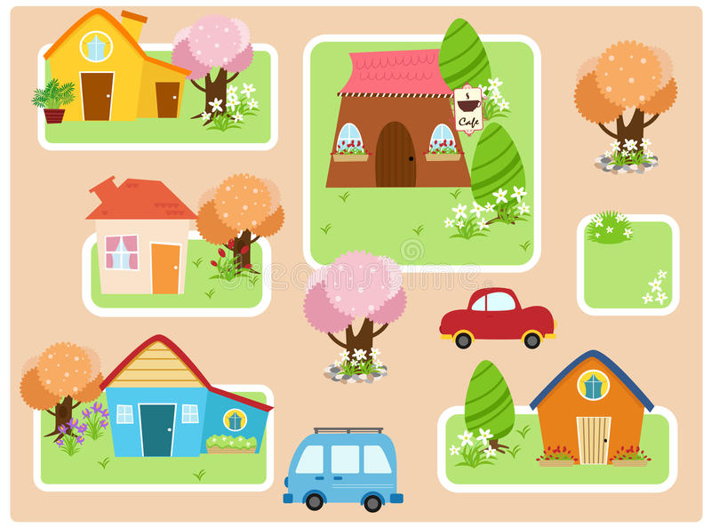 Download City collection stock vector. Illustration of suburb - 11154895