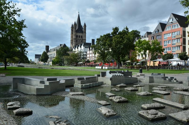 City of Cologne in Germany. Cologne old town city center in Germany royalty free stock photos