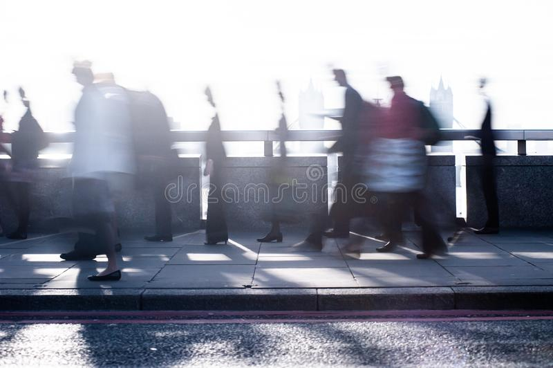 City commuters in London royalty free stock photo