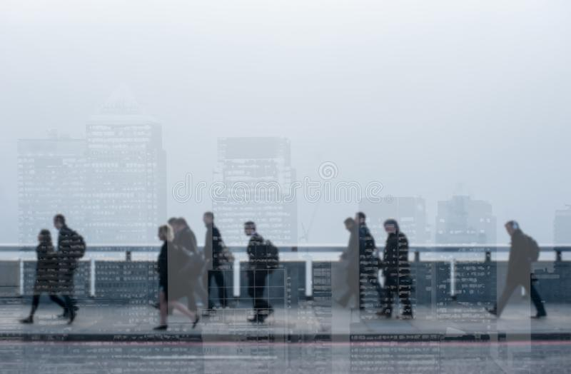 Blur - Commuters in generic city. royalty free stock photo