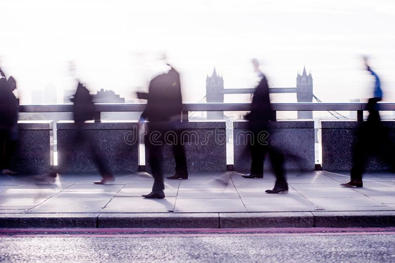 City commuters in London royalty free stock photos