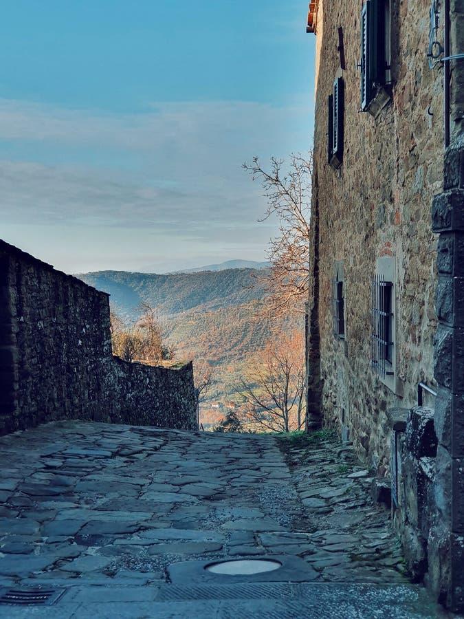 The city of Cortona, the old part of the city, Cortona, Tuscany, Italy royalty free stock photo