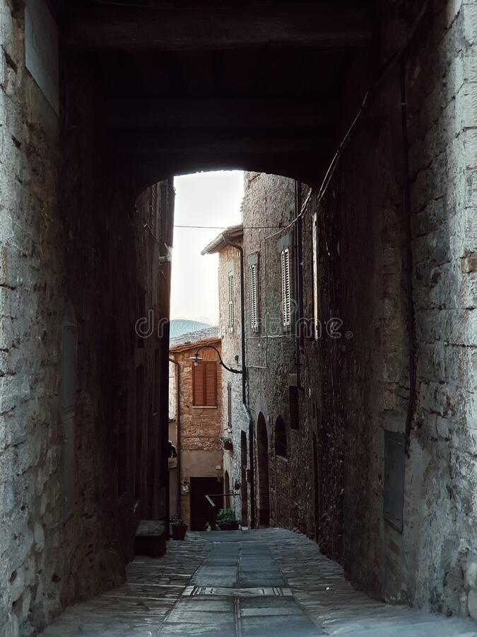 City of Cortona, view of the medieval village of the city of Cortona, Tuscany, Italy stock images