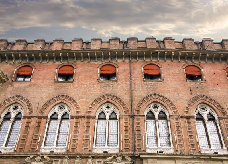 City council facade in Bologna stock image