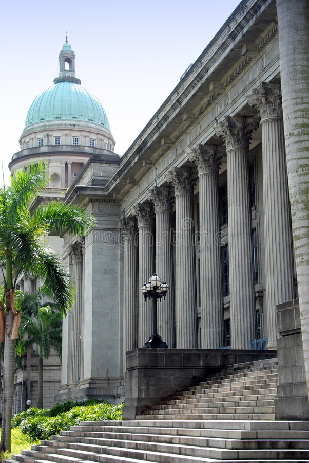 city court dome hall singapore supreme royaltyfri foto