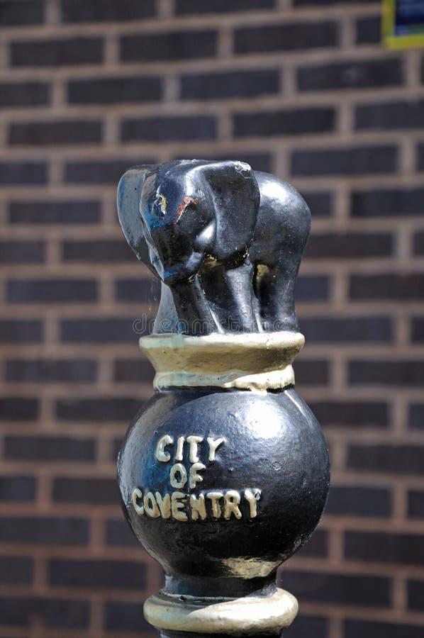 City of coventry bollard. stock photo