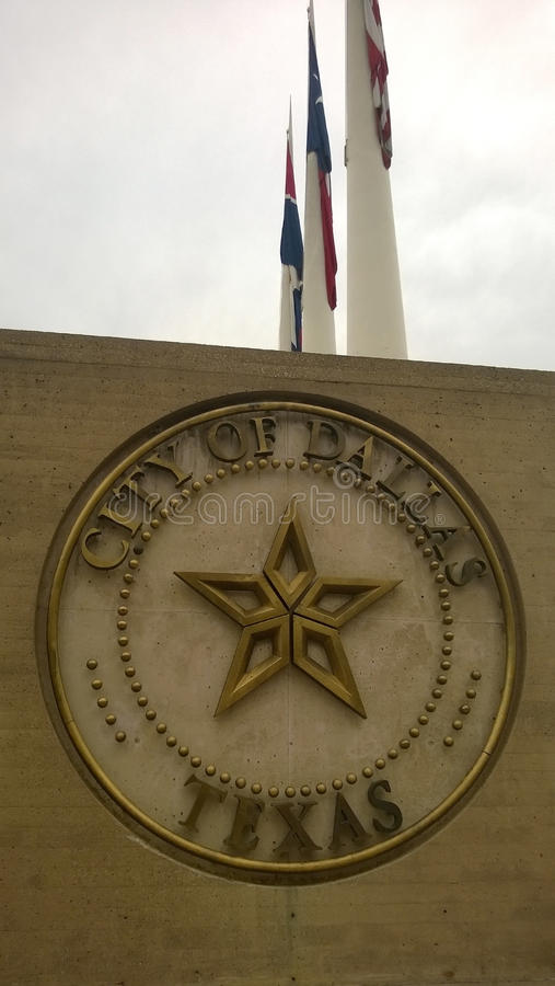 Download City Of Dallas Sign With Flags Stock Photo - Image: 39049802