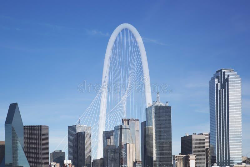 Download City Dallas Skyline And Margaret Hunt Hill Bridge Editorial Image - Image of landmarks, dallas: 63423335