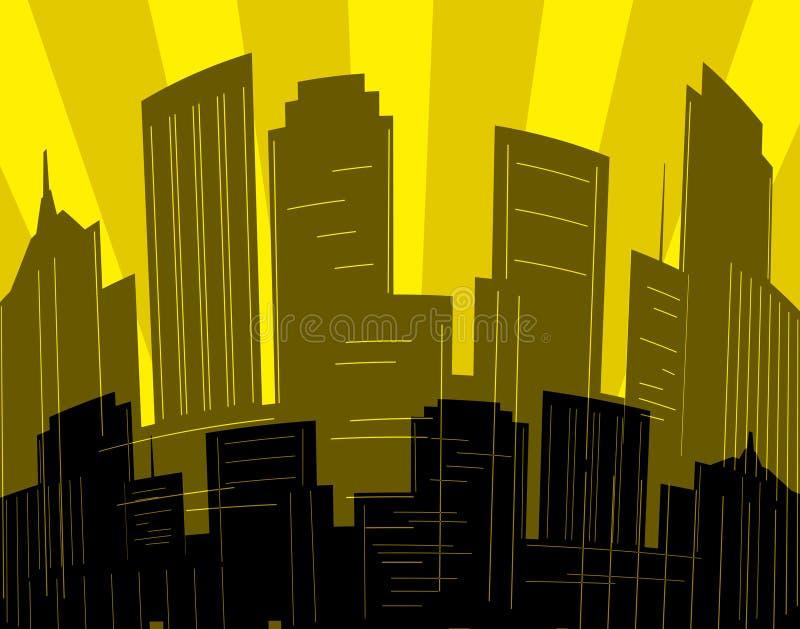 City dawn stock illustration