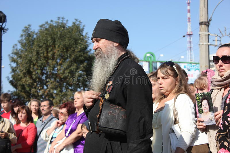 City day in Luhansk. Ukraine. War in the east royalty free stock photos