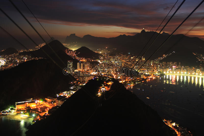 city de gondola ηλιοβασίλεμα του Ρί&omicr στοκ φωτογραφία με δικαίωμα ελεύθερης χρήσης