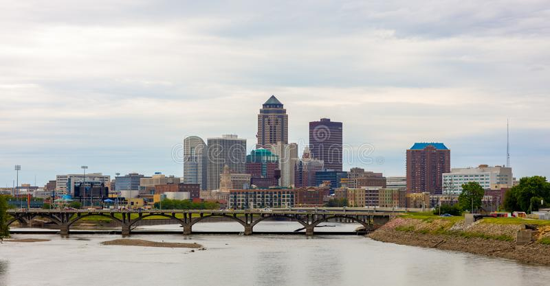 The City Of Des Moines. Des Moines, the capital of the state of Iowa, United States of America stock photography