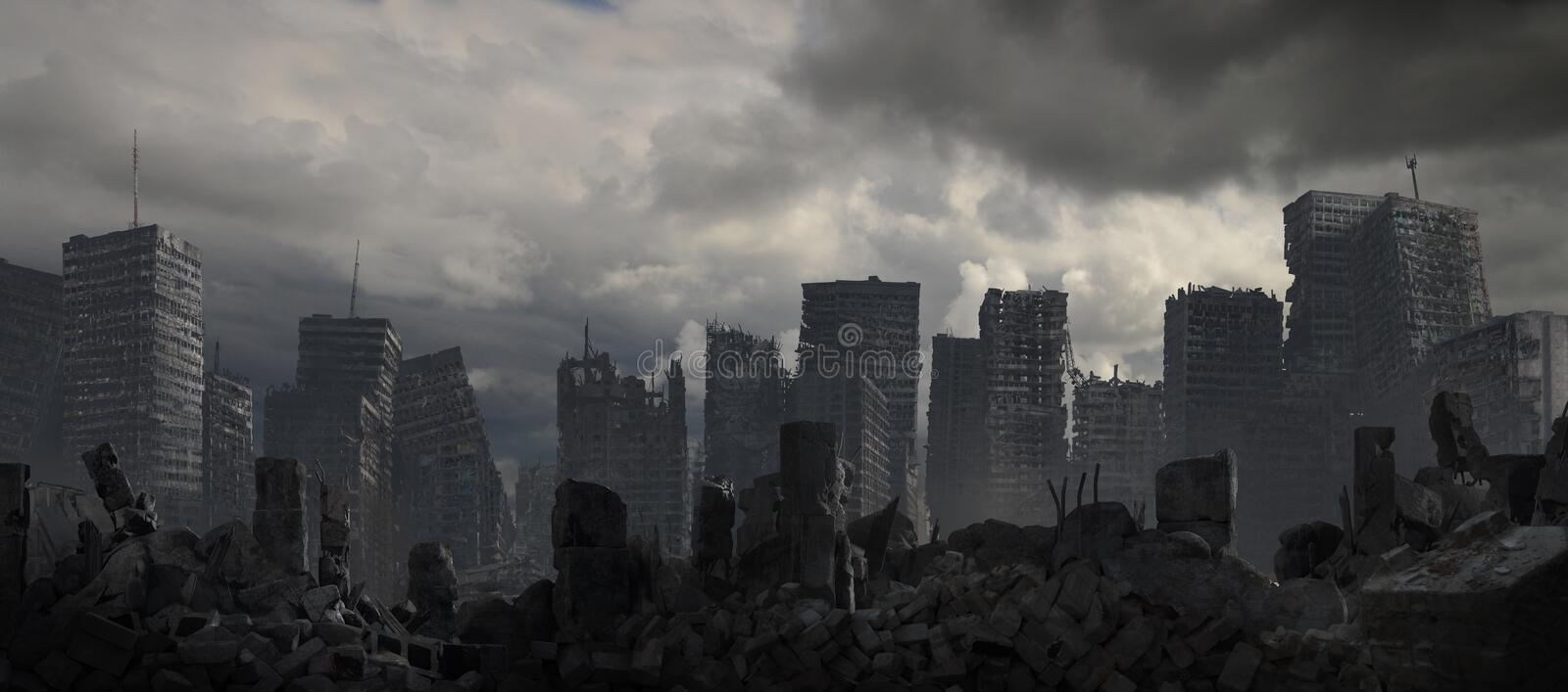 City Of Destruction and Decay stock illustration