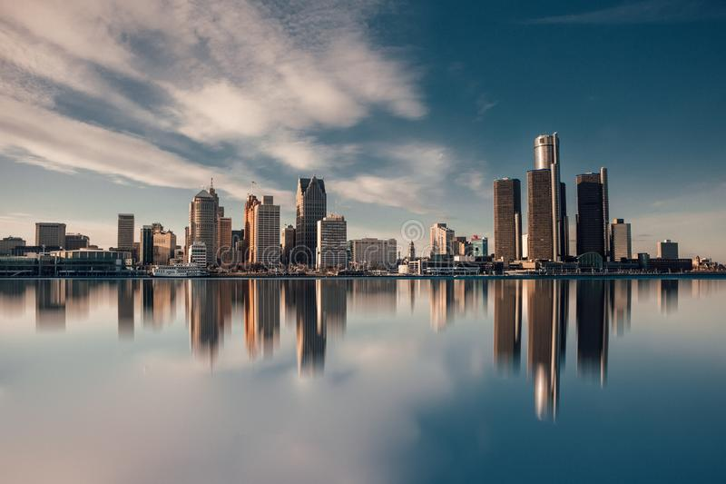 City of Detroit stock image
