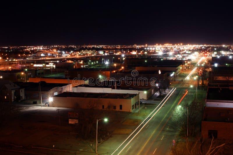 city downtown nightime oklahoma στοκ φωτογραφία με δικαίωμα ελεύθερης χρήσης