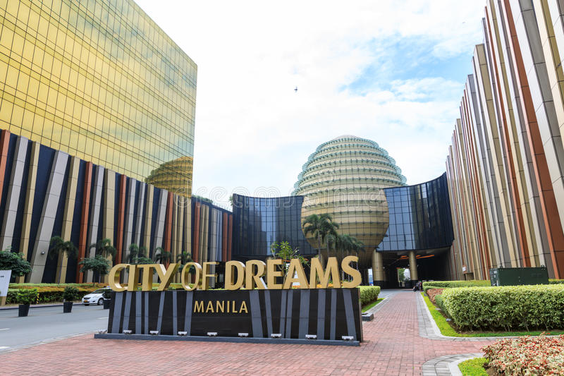 City of Dreams in Manila. The City of Dreamshotel, casino, and shopping complex in Manila, Philippines stock photography