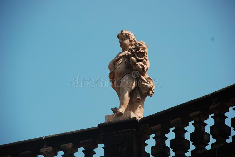 City of Dresden Germany. Sculpture Statuern stock photography